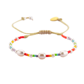 Rainbow Beaded Bracelet - Pearl Pride