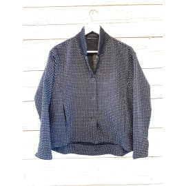 NABY short Jacket - Night Blue Dot