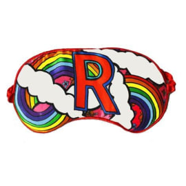 SILK EYE MASK  - R for Rainbow