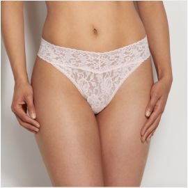 SIGNATURE LACE THONG - Bliss Pink