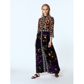 IKAT SUPERSTAR STRUCK Long Shirt Dress - Camel/Navy/Black