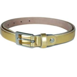 ASTELIA Skinny Leather Belt - Gold