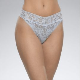 SIGNATURE LACE THONG - Periwinkle
