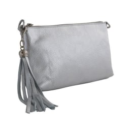 FORGET-ME-NOT Clutch - Silver Leather