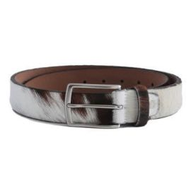 Brown Cow Belt - Brown & White