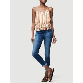 LE SKINNY DE JEANNE CROP MICRO SHREDDED RAW - Cantine