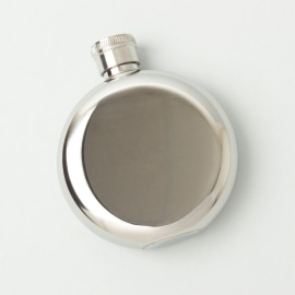 STAINLESS STEEL 3 oz HIP FLASK