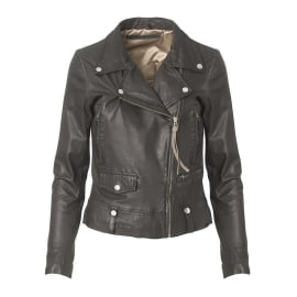 SEATTLE THIN Leather Jacket - Black