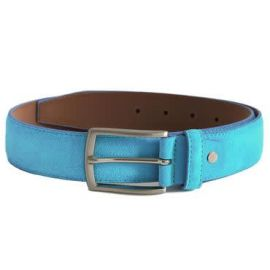 PAPAVERO Suede Leather Belt - Turquoise