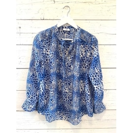 STOWE Blouse - Ombre Cheetah Sea