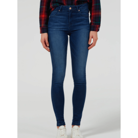 RIZZO High Top Ankle Skinny Jeans - Fawcett Blue - Medium Indigo