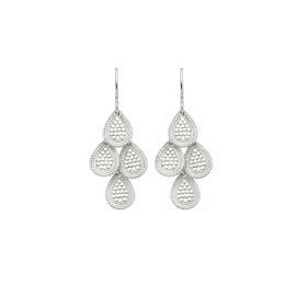 DOTTED DISC CHANDELIER Earrings - Silver