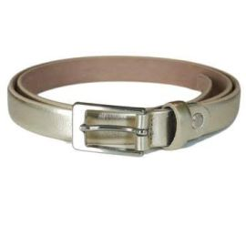 ASTELIA Skinny Leather Belt - Pale Gold