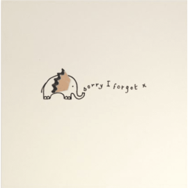 Forgot Elephant Pencil Shavings Card