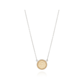 "DISC Necklace 16-18"" - Gold/Silver"