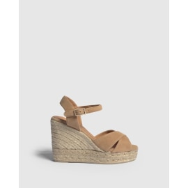 Blaudell Suede Wedged Espadrille - Natural