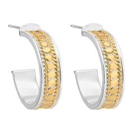 SMALL HOOP POST Earrings - Gold