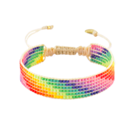 Rainbow Beaded Bracelet - Stairs