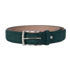 PAPAVERO Suede Leather Belt - Teal Green