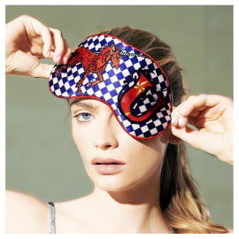 Silk ALPHABET  EYE MASK