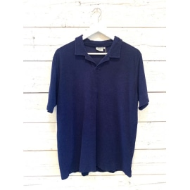 BOUCLETTE Knitted Polo Shirt - Navy Blue