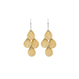 DOTTED DISC CHANDELIER Earrings - Gold