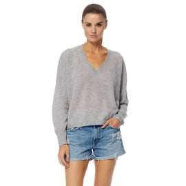 MARINA Cashmere Jumper - Heather Grey