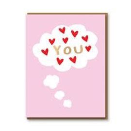 Love You Thought Bubble Card