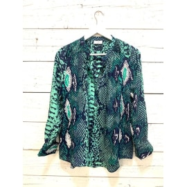 STOWE Blouse - Python Jungle