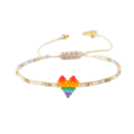 Rainbow Beaded Bracelet - Heartsy Row