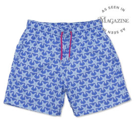 Men's Swim Shorts - Starfish Mid Blue