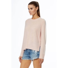 TALULAH Cashmere Jumper - Honey Pink/White
