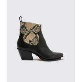 ABIE Embossed Leather Boot - Snake