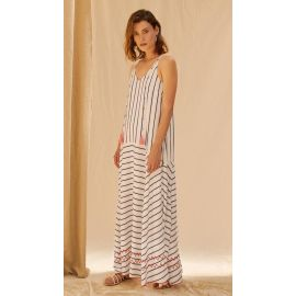 CARENNA Dress - Blue Stripe