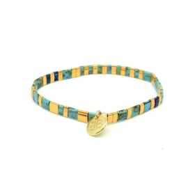DREAMLOVER Stretch Bracelet - Teal/Gold