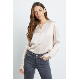 PEARL CREPE BLOUSE - Champagne