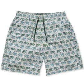 Men's Swim Shorts - ELEPHANTS Olive