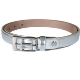 ASTELIA Skinny Leather Belt - Silver
