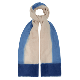 COTTON & LINEN OMBRE Scarf - Pale Denim