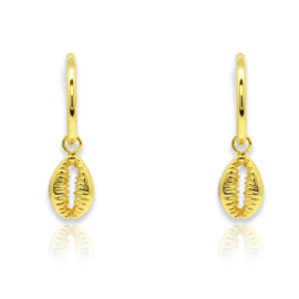 Tatyana Earrings - Gold Cowrie Shell
