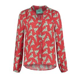 BLOUSE - Lovebirds Red by Katja