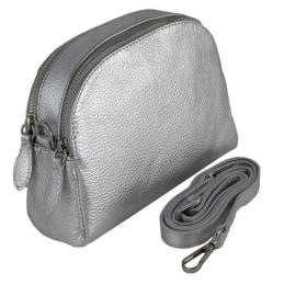 VIOLA Cross-Body Handbag - Silver
