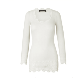 BENITA Vintage Lace T-Shirt - New White