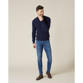 SLIMMY TAPERED Luxe Performance Plus+ Jeans - Mid Blue