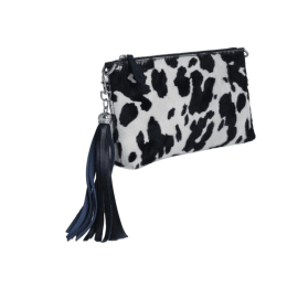 FORGET-ME-NOT Clutch - Black and White Cow