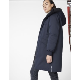 JANE Mid-Length Reversible Parka - Navy & Black