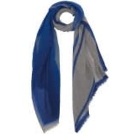 WOOL MELANGE Scarf - Blue Run