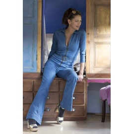 PATTI Vintage Inspired Denim Jumpsuit