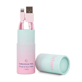 CHARGE & SYNC Lightning Cable - Bubblegum