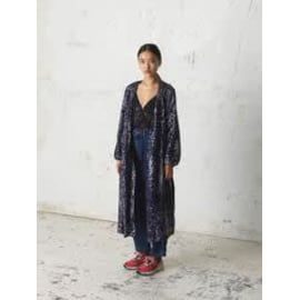 EVERLEE Sequins Coat Dress - Blue